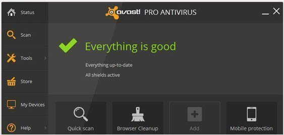 Avast Version 2014