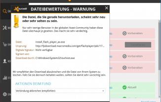 Avast mal wieder… Warnung Dateibewertung