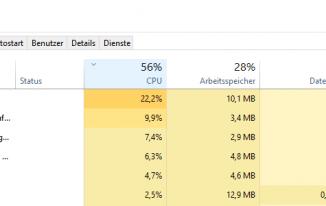 Hohe CPU Last bei Windows 10 durch Runtime Broker (RuntimeBroker.exe)